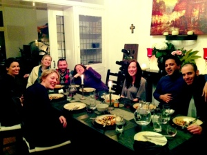 Full dinner table = Happy heart...Sorry Alejandro next time I'll get one with your eyes open. ;-)