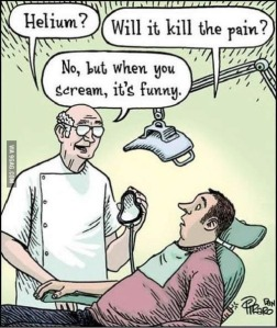 Helium pain